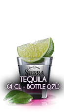 Tequila (4 cl - Bottle 0,7l)