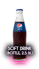 Soft drinks (Bottled, 2,5 dl)
